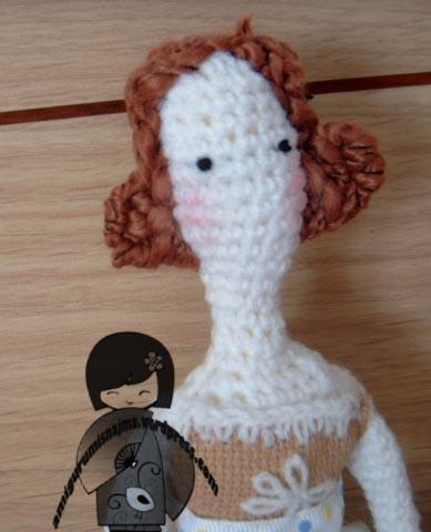 Publicado 02/05/2012 en 389 × 480 en Muñeca estilo tilda crochet