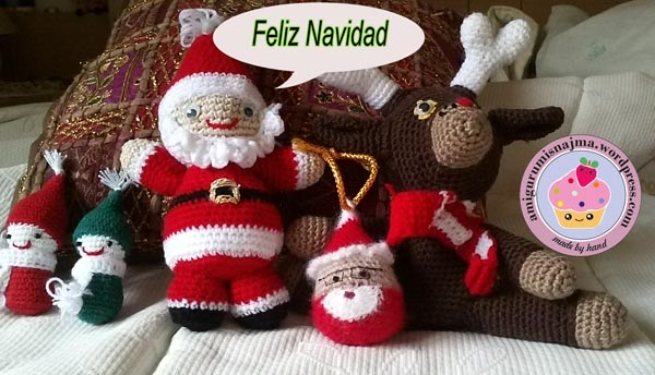 santa claus noel gnomes xmas christmas crochet amigurumi najma