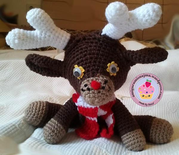 reno  reindeer amigurumi najma crochet