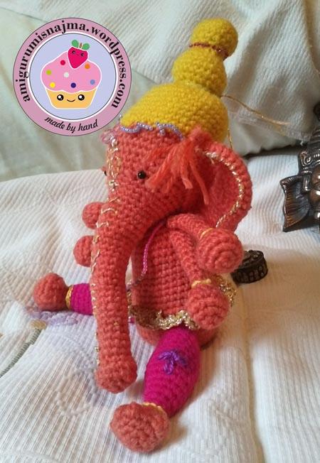 Elefante llavero | Elefantes crochet, Llaveros crochet, Patrones ... | 652x450
