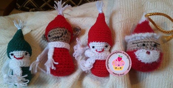 duendes crochet ganchillo xmas navidad
