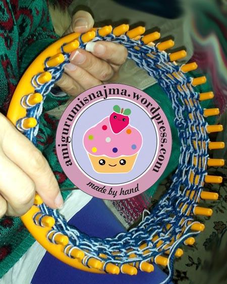 telar redondo najma lana yarn knitting loom