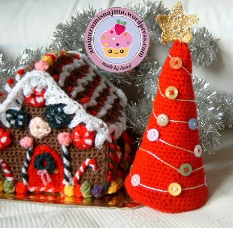 casita jengibre navidad crochet