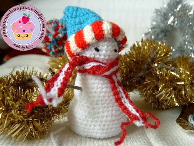muñeco de nieve crochet snowman ganchillo  najma