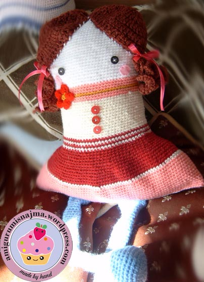 doll pillow crochet