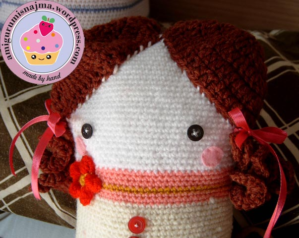 crochet doll pillow ganchillo