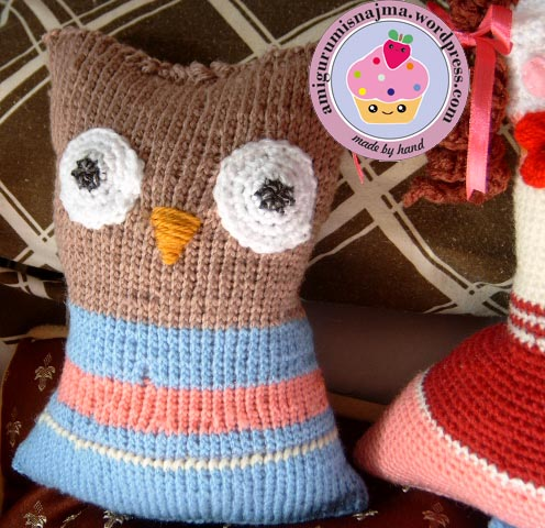 crochet owl pillow ganchillo najma