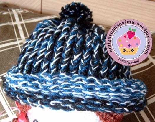 sombrero gorro telar redondo lana
