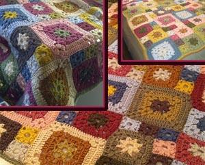 garden patchwork granny blanket crochet