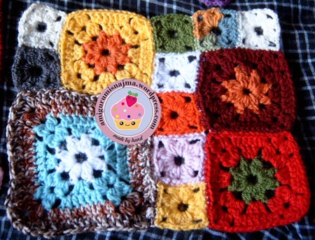 blanket crochet garden patch granny