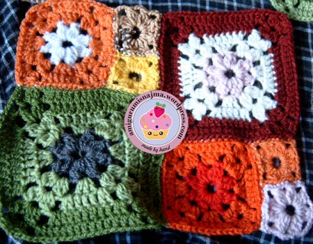 garden patch granny blanket crochet