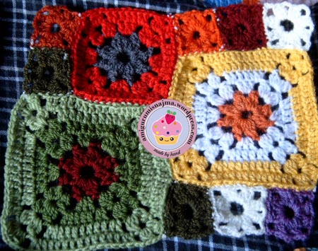 ganchillo garden patch granny blanket