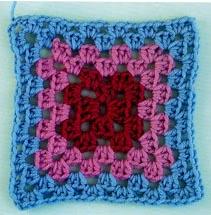 granny square tradicional crochet
