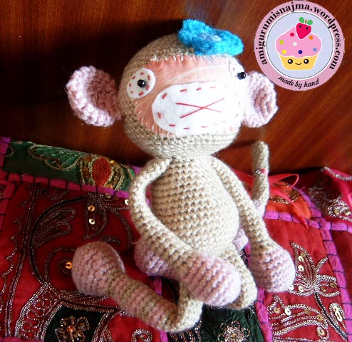 crochet monkey girl amigurumi lana ganchillo