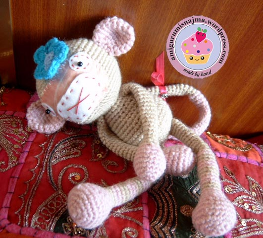 monkey girl amigurumi crochet ganchillo
