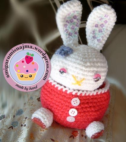 joyero amigurumi conejo rabbit najma crochet