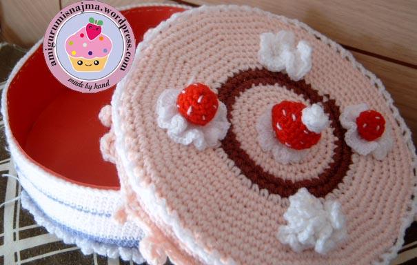 cake crochet amigurumi tarta