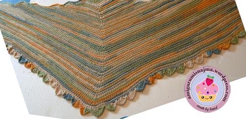 knitting shawl 22.5 Degrees Martina Behm