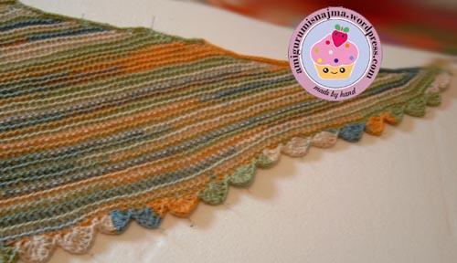 knitting shawl chal 22.5 Degree Martina Behm