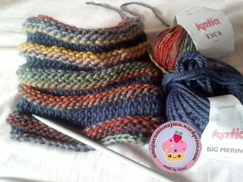Dos agujas labores de najma - Labores de punto de lana ...