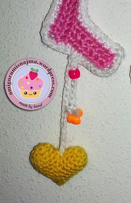 guirnalda amor love garland crochet