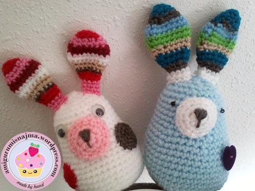 bunny amigurumi ganchillo crochet conejitos