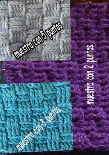 muestra basketweave crochet najma