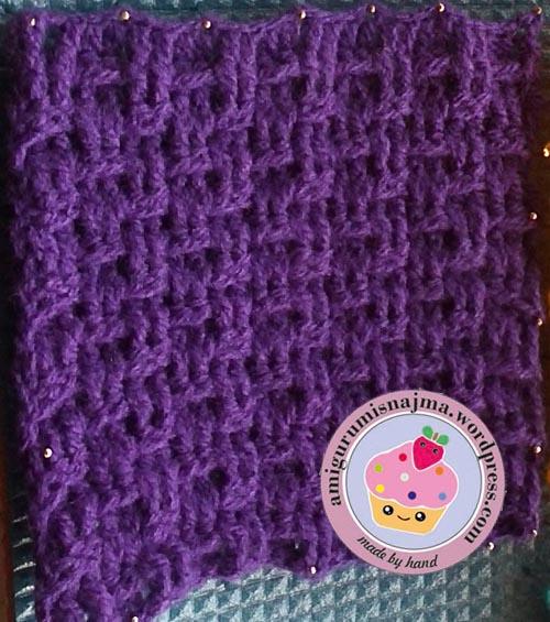 punto canasta crochet najma
