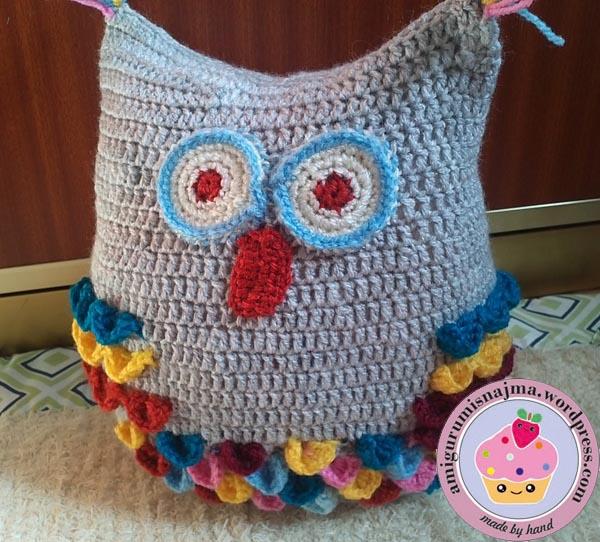 Buho crochet | Labores de Najma
