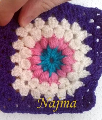 granny square flor africana najma