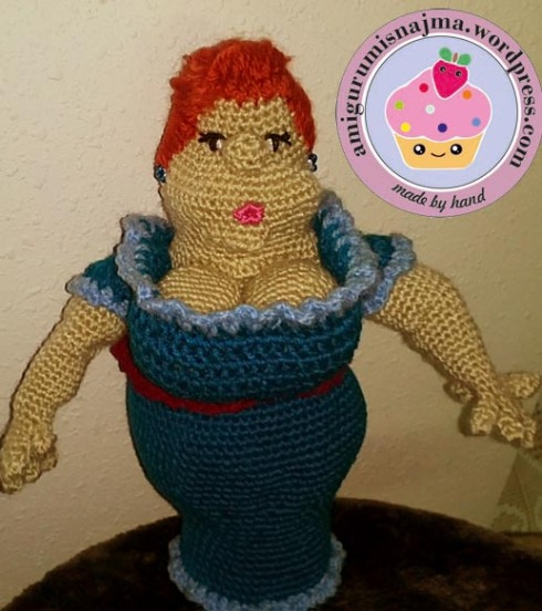 fat lady crochet ganchillo amigurumi