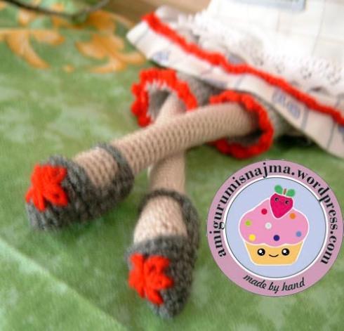 zapatos tilda crochet najma doll amigurumi