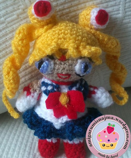Amigurumi Sailor Moon Luna : Sailor moon amigurumi crochet Labores de Najma