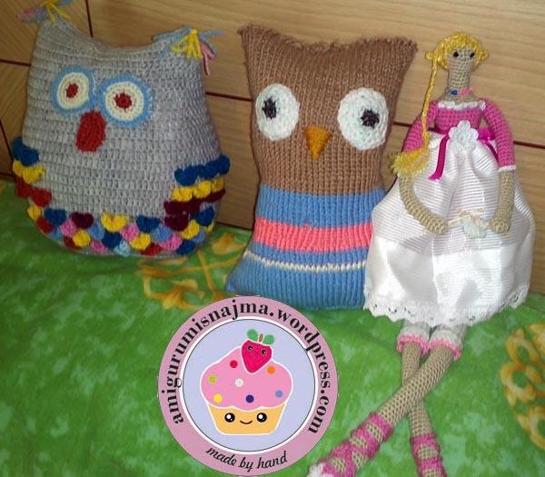 amigurumi tilda owl crochet pillow