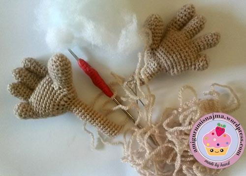manos bebe crochet amigurumi