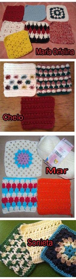 reto granny square crochet najma