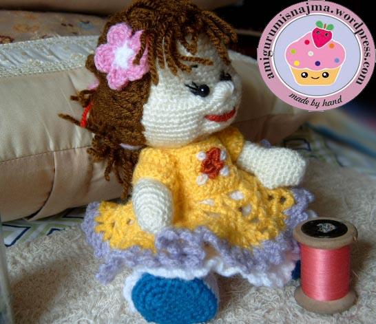 muñeca crochet ganchillo amigurumi doll