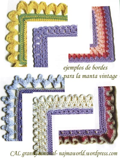 bordes para manta crochet ganchillo