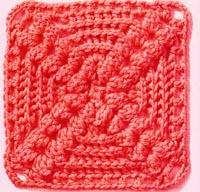 popcorn granny square crochet
