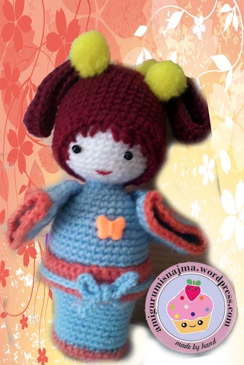 Geisha crochet amigurumi cho