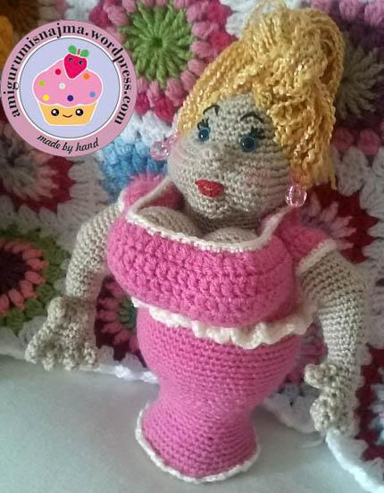 amigurumi crochet fat lady