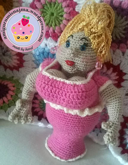 amigurumi crochet fat lady