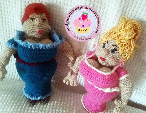 crochet ganchillo fat lady amigurumi