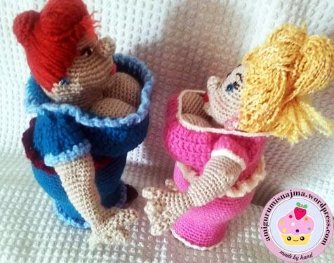fat lady amigurumi crochet