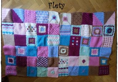 MANTA VINTAGE crochet ganchillo