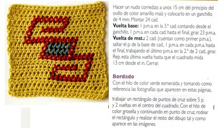 26 junio amarillo crochet granny square
