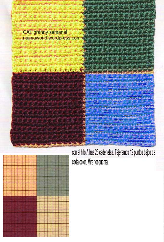 26 junio colores granny semanal crochet