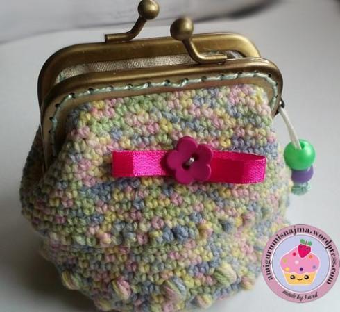 monedero crochet boquilla metálica