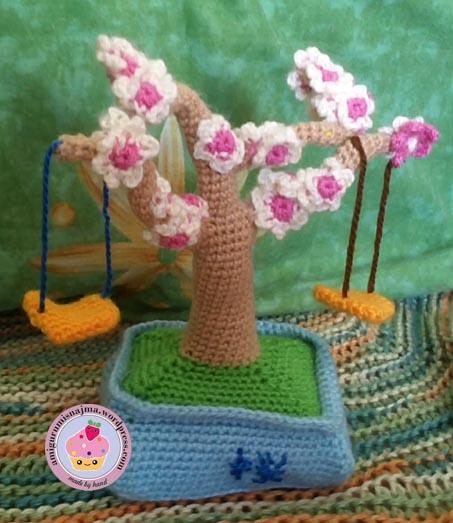 bonsai tree cherry tree japanese crochet amigurumi