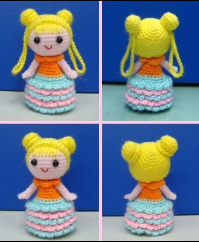 pencil topper girl crochet ganchillo